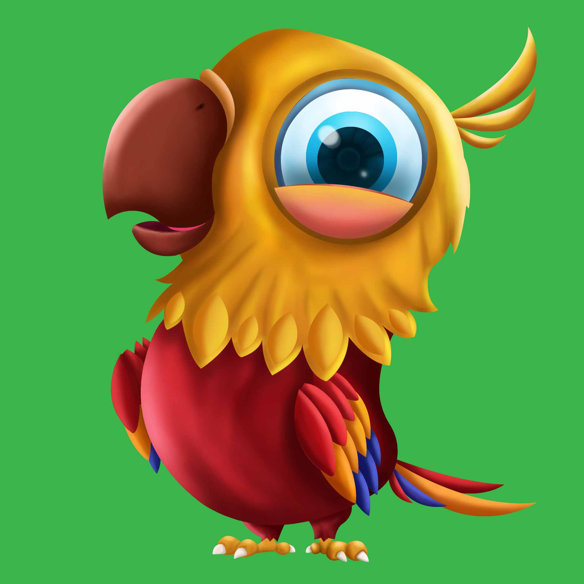 Slot Game character parrot