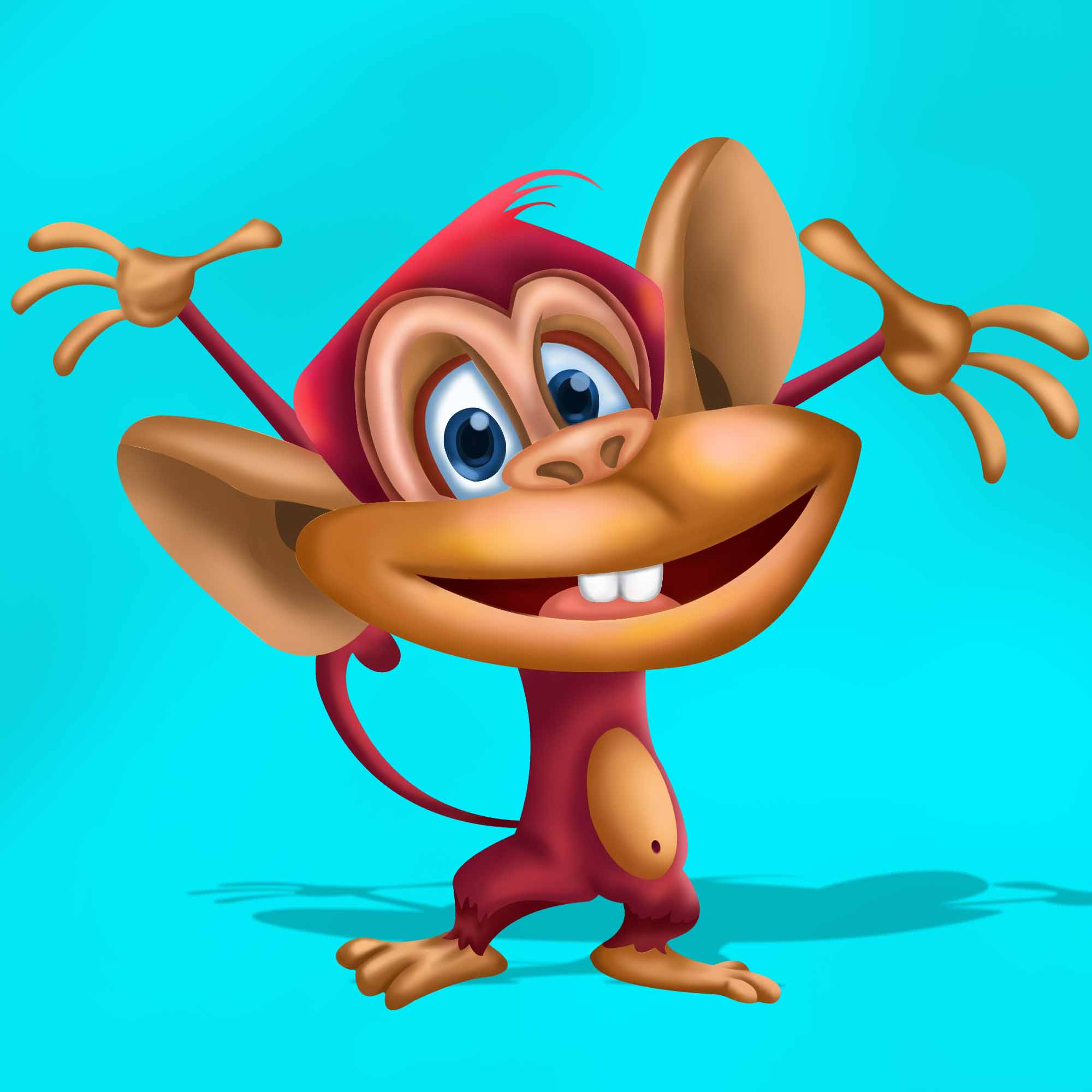 Slot Game character monkey